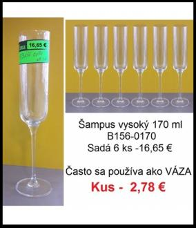 Váza 1 kus (šampus 170 ml - sadá 16,65 )